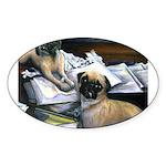Law Dogs Oval Sticker (50 pk)