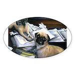 Law Dogs Oval Sticker (10 pk)