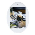 Law Dogs Oval Ornament