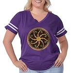 Disc Golfer Women's Plus Size Football T-Shirt