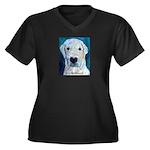 Blue Molly Women's Plus Size V-Neck Dark T-Shirt