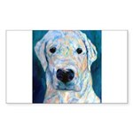 Blue Molly Rectangle Sticker