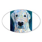 Blue Molly Oval Sticker