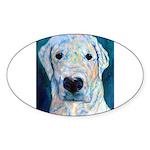 Blue Molly Oval Sticker (50 pk)
