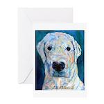 Blue Molly Greeting Card