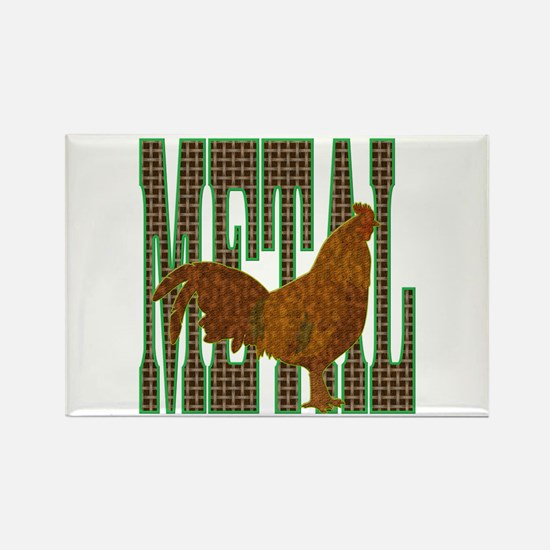 Chinese Metal Rooster Rectangle Magnet