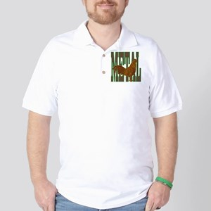 Chinese Metal Rooster Golf Shirt