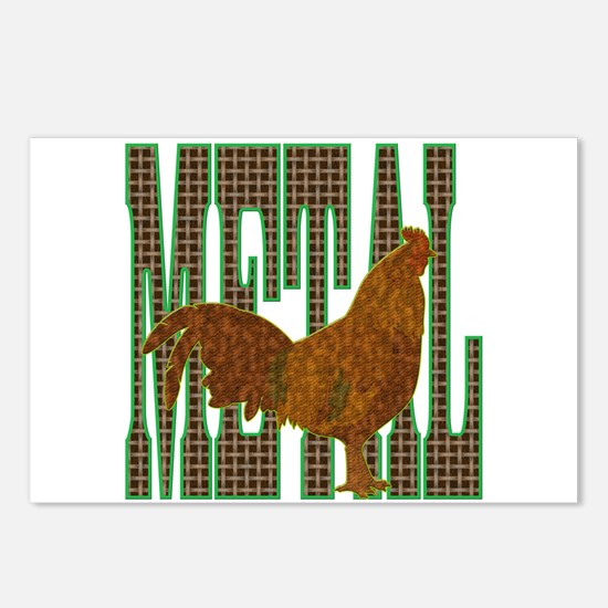 Chinese Metal Rooster Postcards (Package of 8)