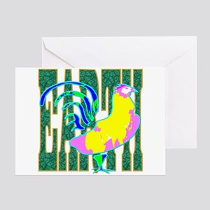 Chinese Earth Rooster Greeting Card