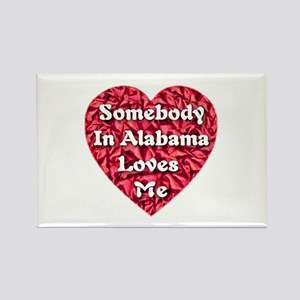 Somebody in Alabama Loves Me Rectangle Magnet