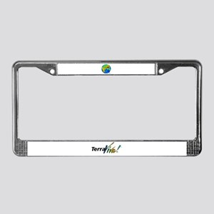 Earth Elevation and Depth License Plate Frame