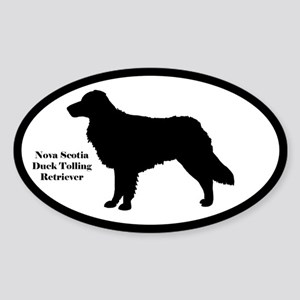 Nova Scotia Duck Tolling Silhouette Oval Sticker