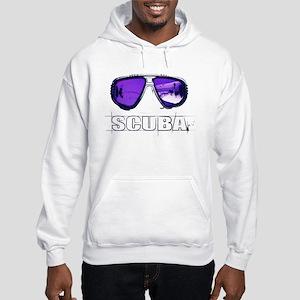 Hooded Sweatshirt with Scuba Print