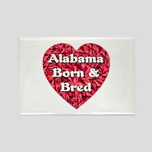 Alabama Born & Bred Rectangle Magnet