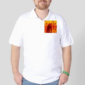 Chinese Fire Monkey Golf Shirt