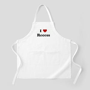 I Love Recess BBQ Apron