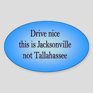Jacksonville not TA Oval Sticker