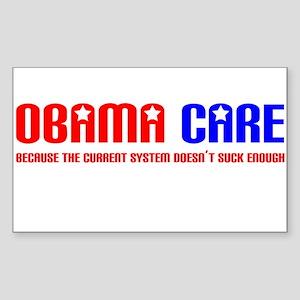 Obama Care Rectangle Sticker
