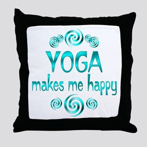 Yoga Happiness Throw Pillow