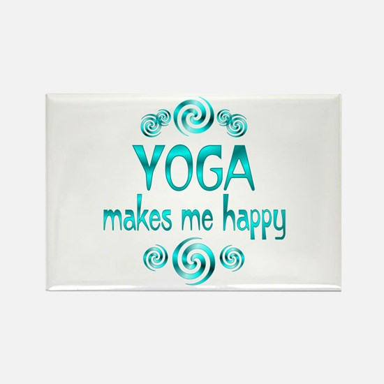 Yoga Happiness Rectangle Magnet
