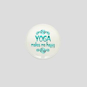 Yoga Happiness Mini Button