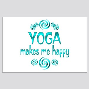 Yoga Happiness Large Poster