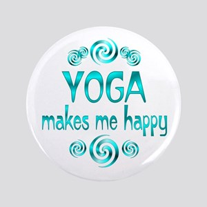 """Yoga Happiness 3.5"""" Button"""