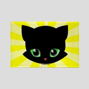 Little Black Cat Magnet (Rectangle)