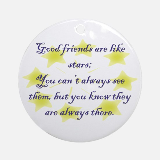 Friends are like Stars Ornament (Round)