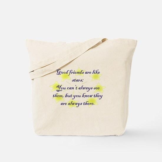 Friends are like Stars Tote Bag