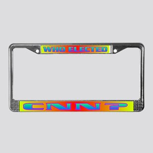 WHO ELECTED CNN? License Plate Frame