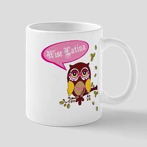 2-wise latina owl Mugs