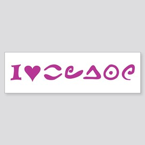I Love W.i.t.c.h. Bumper Sticker