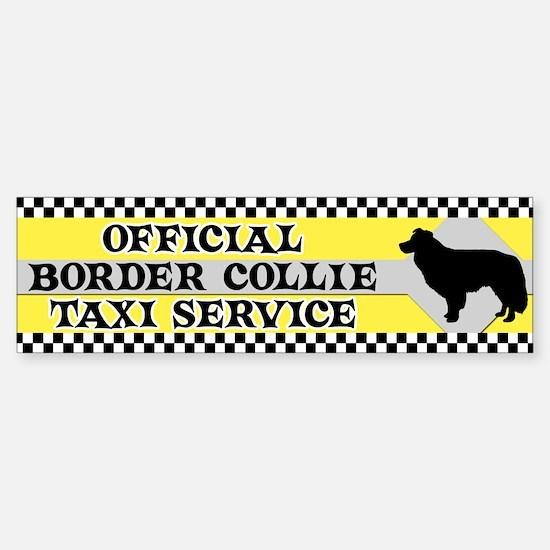 Official Border Collie Taxi Bumper Bumper Bumper Sticker