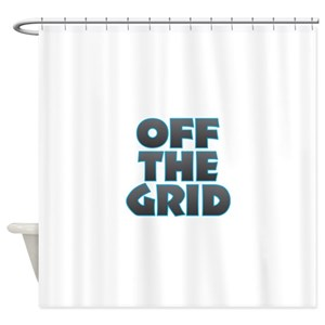 Off Grid Shower Curtains