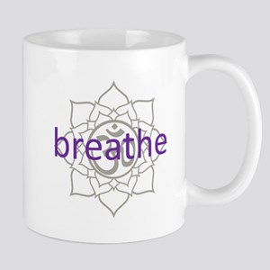 breathe Om Lotus Blossom Mug