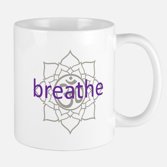breathe Om Lotus Blossom Mug