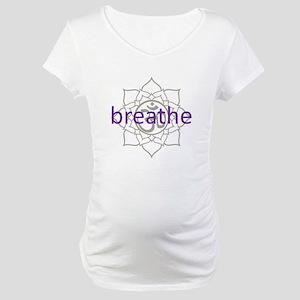 breathe Om Lotus Blossom Maternity T-Shirt