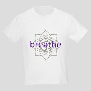 breathe Om Lotus Blossom Kids Light T-Shirt