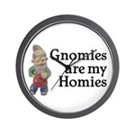 Gnomies are my Homies Wall Clock