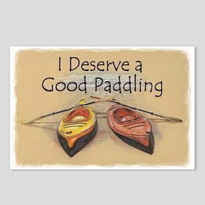 I Deserve a Good Paddling Postcards (Package of 8)
