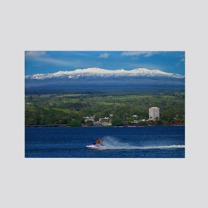 Snow Capped Mauna Kea Hawaii Rectangle Magnet
