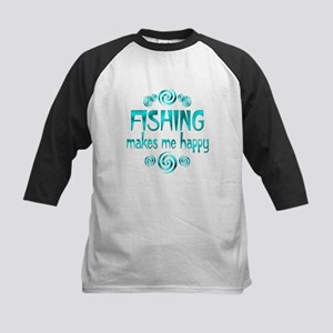 Fishing Kids Baseball Jersey