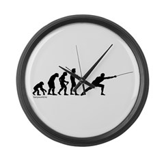 Fencing Evolution Large Wall Clock