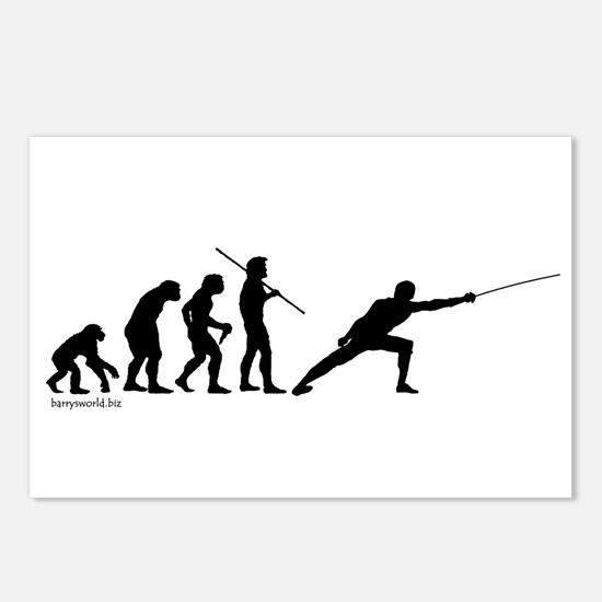 Fencing Evolution Postcards (Package of 8)