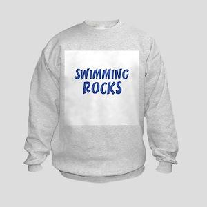 SWIMMING ROCKS Kids Sweatshirt