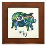 Year Of The Pig Framed Tile