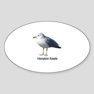 Hampton Roads Gull Oval Sticker