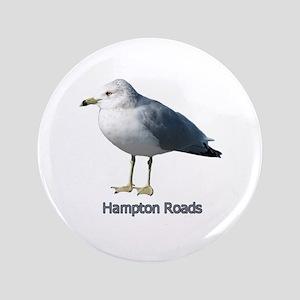 "Hampton Roads Gull 3.5"" Button"