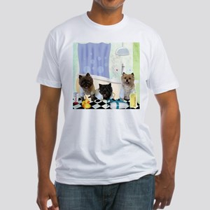 Cairn Terrier Bathtime Fitted T-Shirt